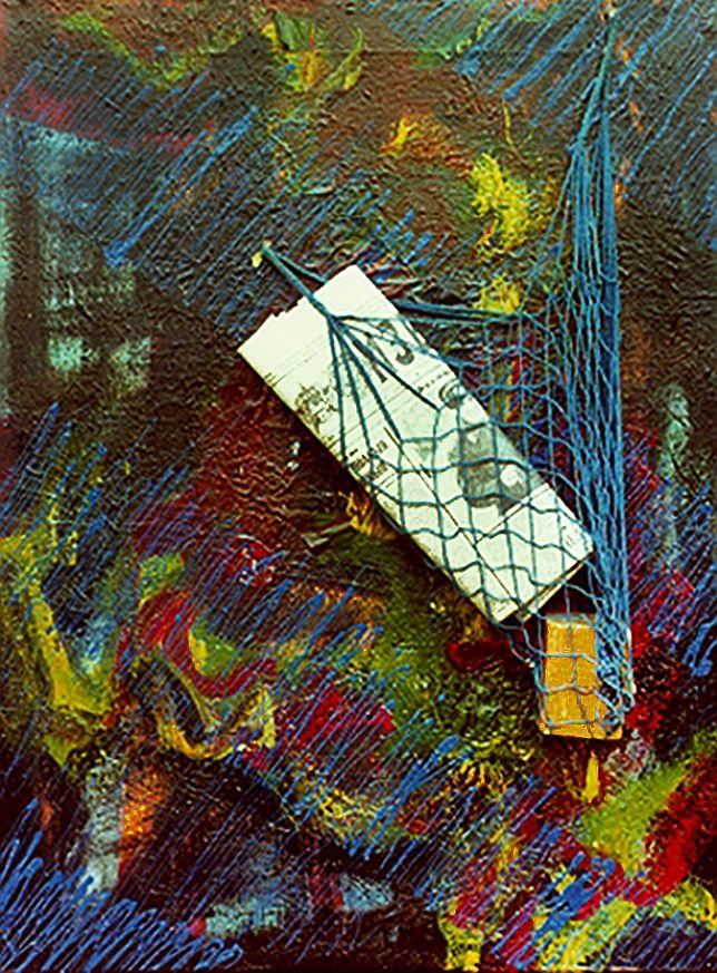 Платон Сильвестров. Авоська з милом та газетою для народу, 1989