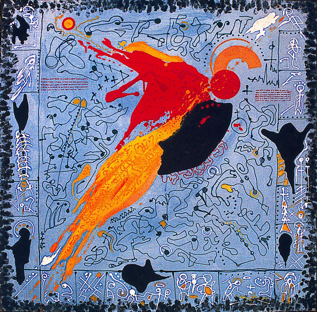 Платон Сильвестров. Ікона на голубому, 1980-ті