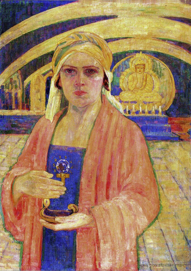 Люна Амалія Дрекслер. Автопортрет у святині, 1923; ЛНГМ