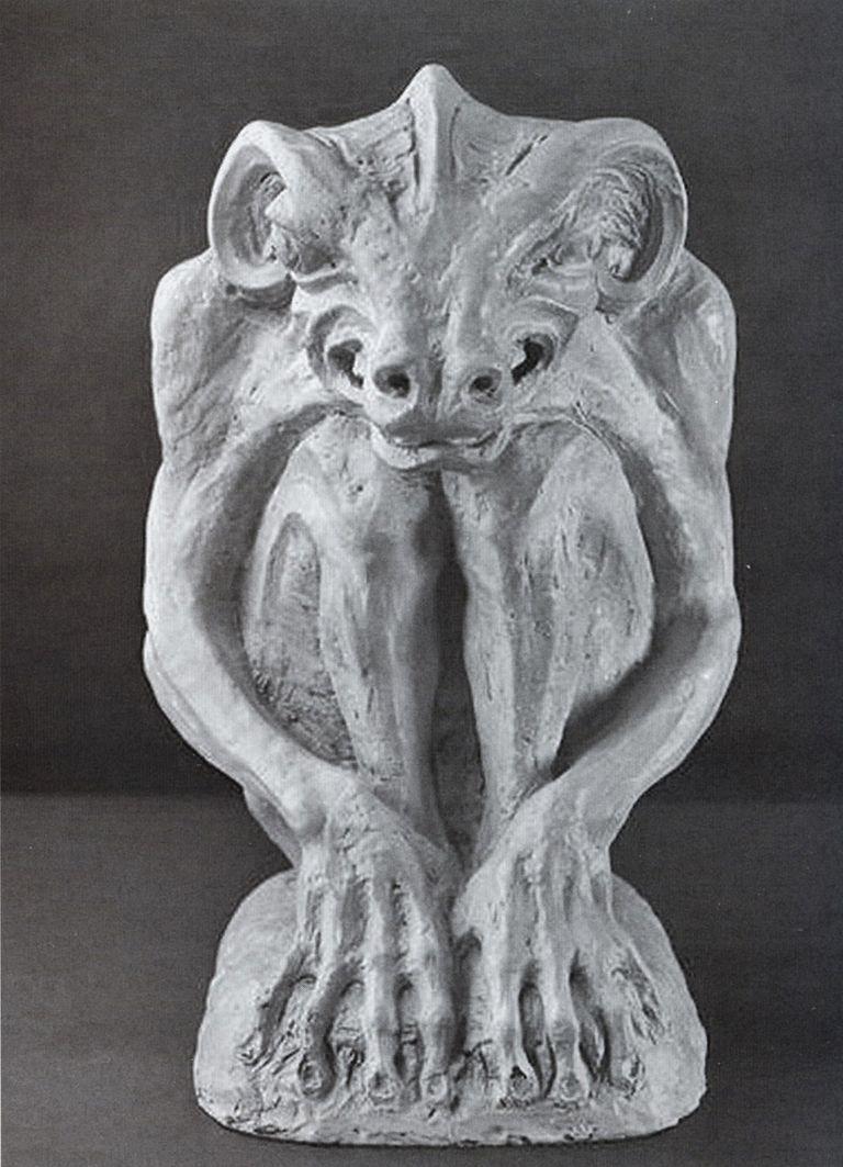 Люна Амалія Дрекслер. Апокаліптичний маскарон, 1910; гіпс, NMK