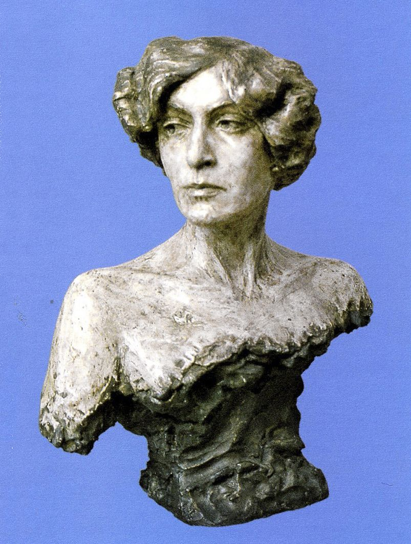 Люна Амалія Дрекслер. Погруддя жінки, 1907; гіпс, ЛНГМ