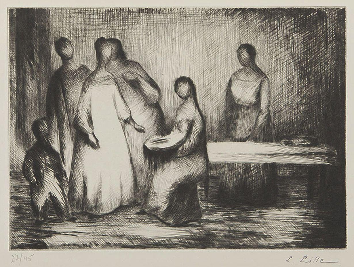 Людвиґ Ліллє. Без назви, 1958; офорт