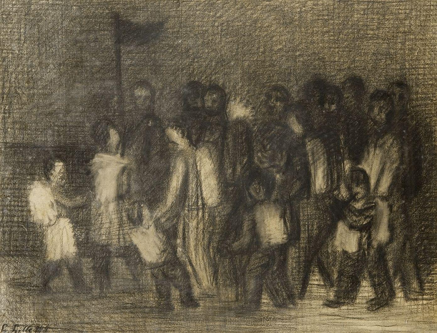 Людвиґ Ліллє. Процесія, 1949