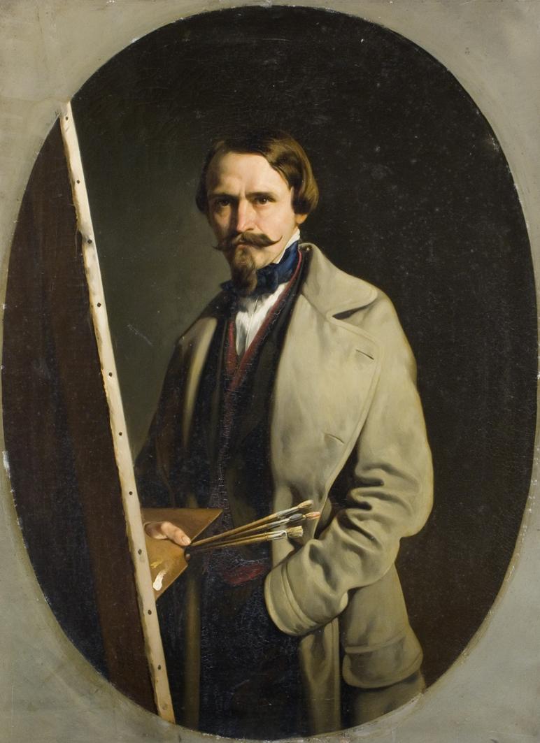 Александер Рачинський. Автопортрет, 1850; олія, полотно; ЛНГМ
