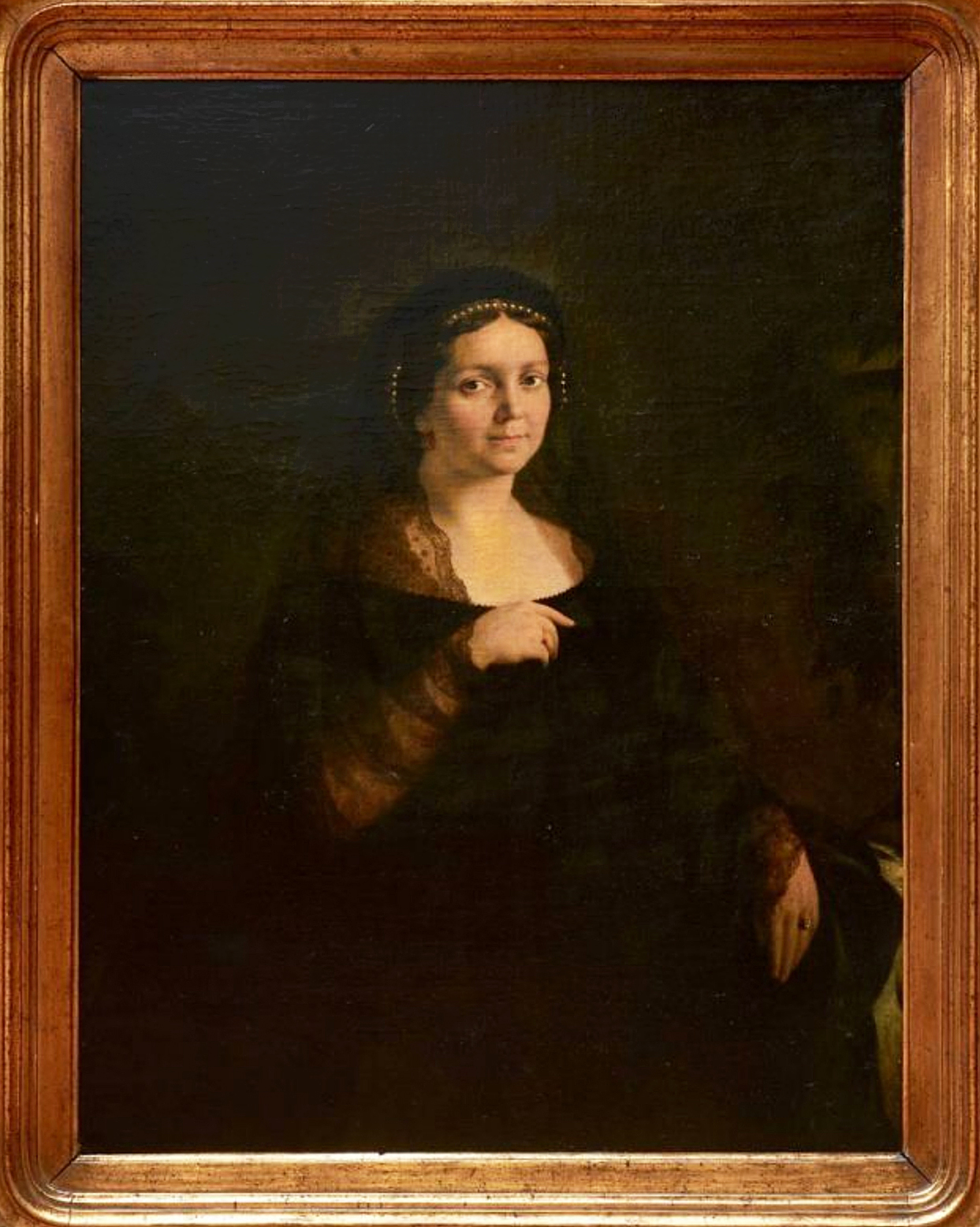 Александер Рачинський. Жіночий портрет, 1861; олія, полотно
