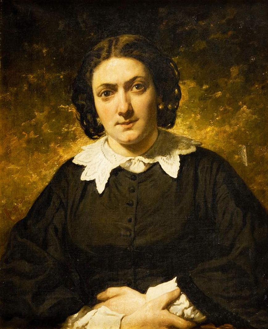 Александер Рачинський. Жіночий портрет, 1857; олія, полотно