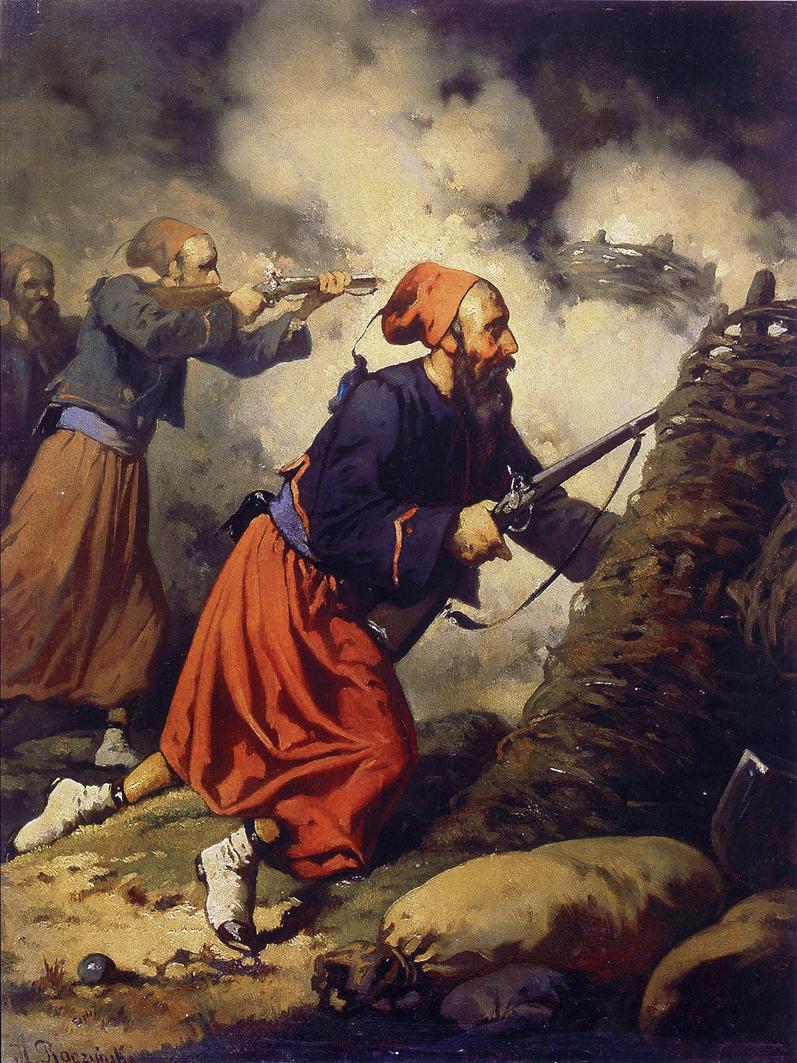 Александер Рачинський. Зуави в бою, 1850-ті; олія, полотно; ЛНГМ