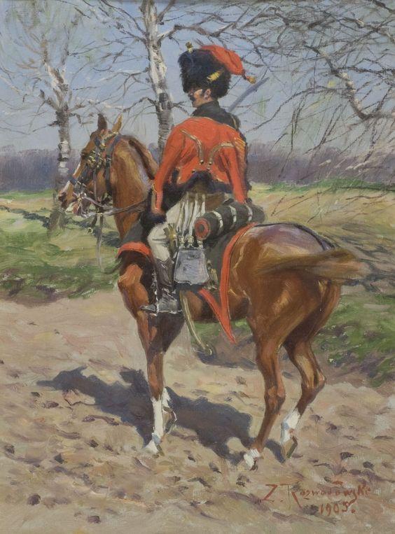 Зиґмунт Розвадовський. Мисливець на коні французької імператорської гвардії, 1905
