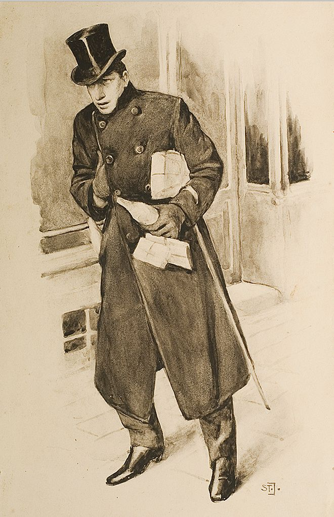 Станіслав Яновський. По справах, 1906; папір, туш
