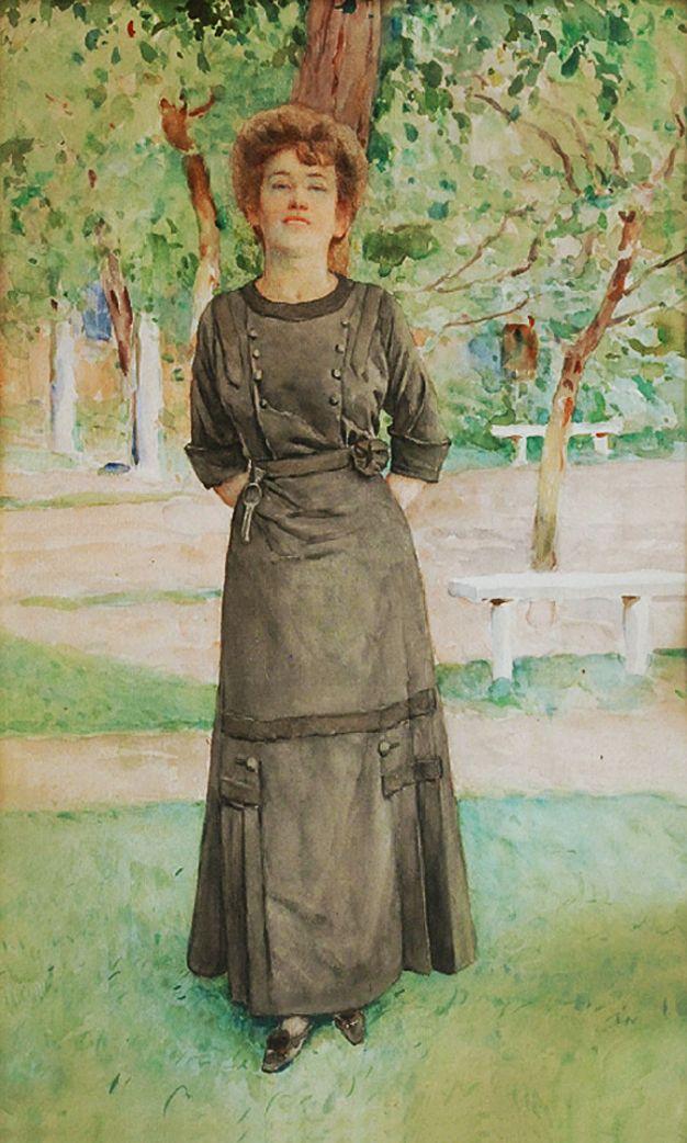 Станіслав Яновський. Портрет жінки, 1929; папір, акварель