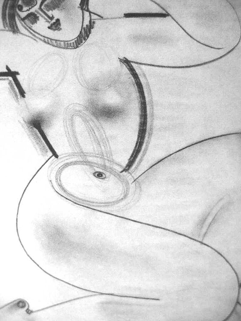 Густав Гвоздецький. Каріатида, 1920; папір, олівець