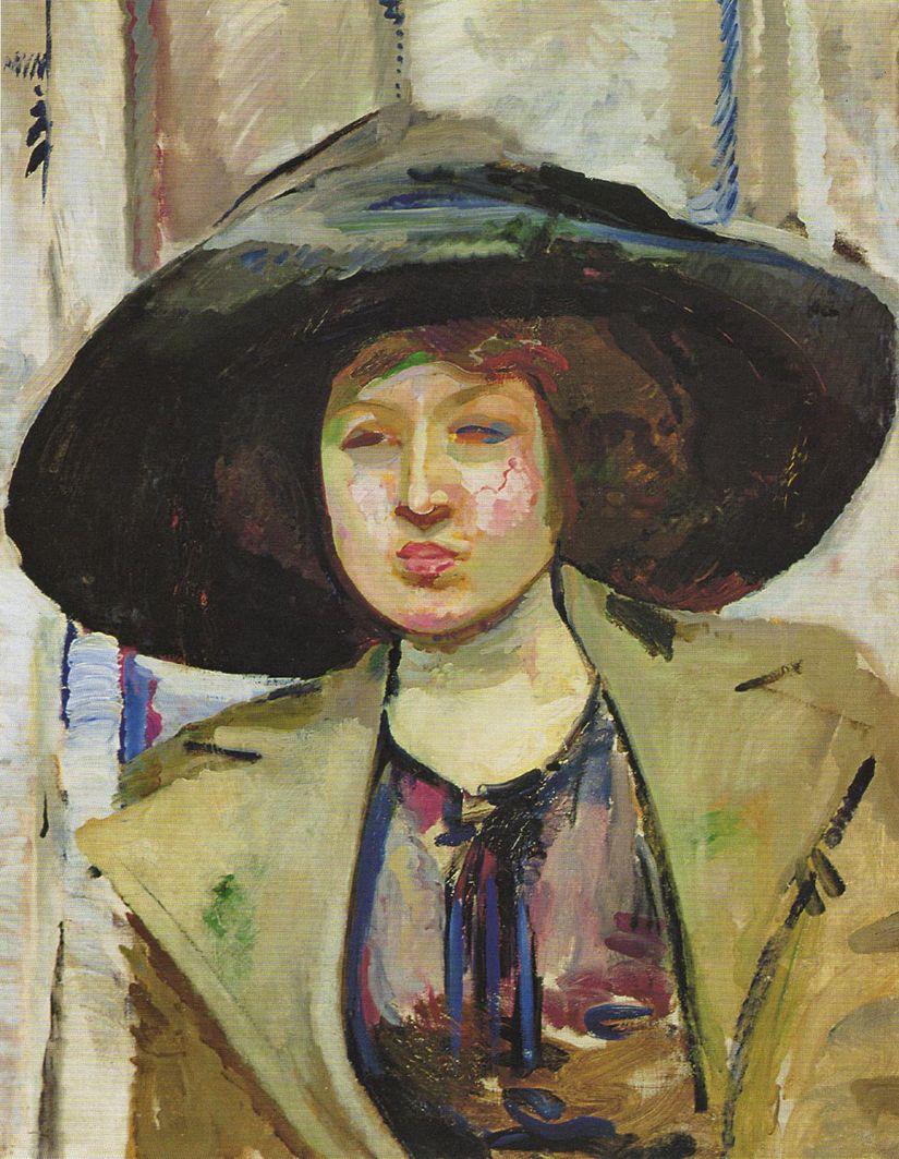 Густав Гвоздецький. Казимира Фенікс, 1911; олія, полотно; NMW