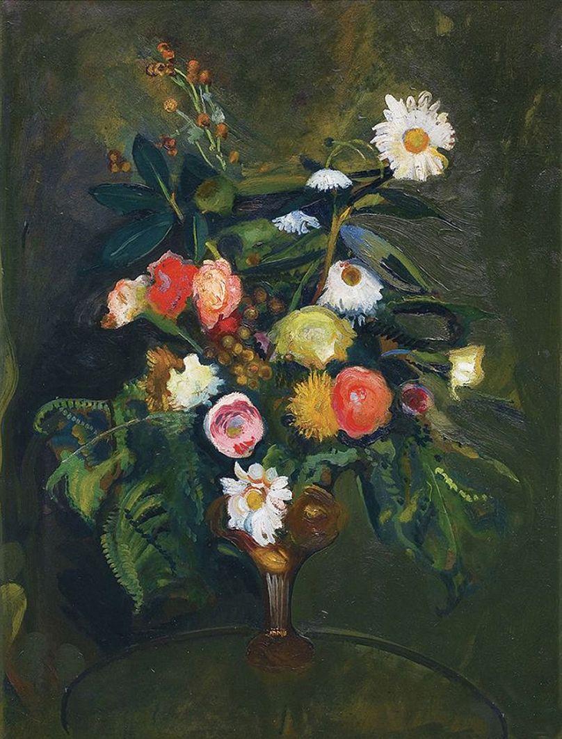 Густав Гвоздецький. Квіти, 1930; олія, полотно
