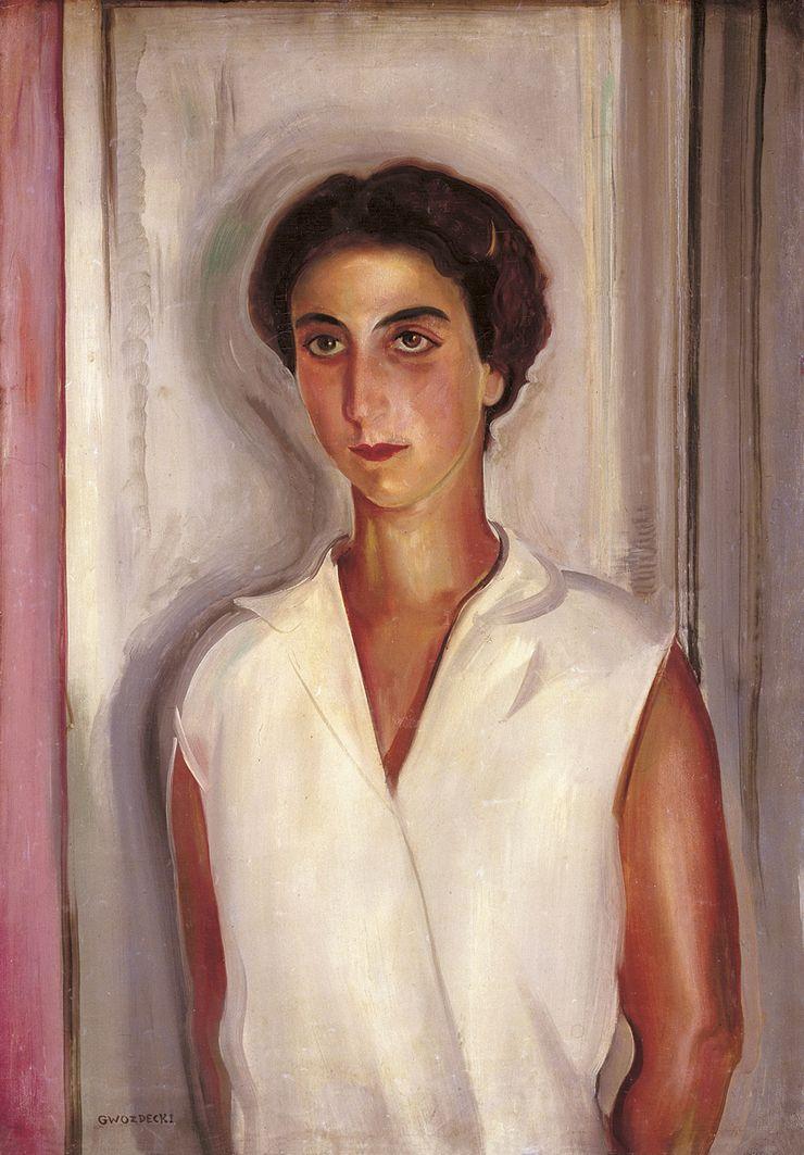 Густав Гвоздецький. Жіночий портрет; 1929; олія, полотно; NMW