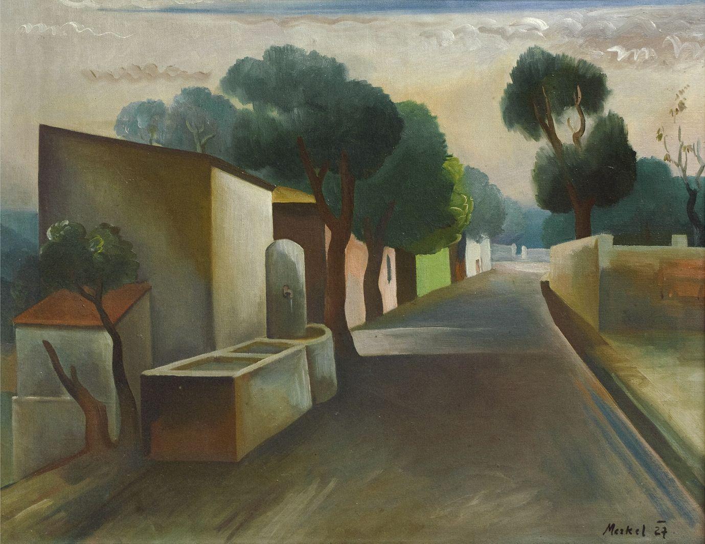 Єжи Меркель. Дорога, 1927; олія, полотно; ЛНГМ