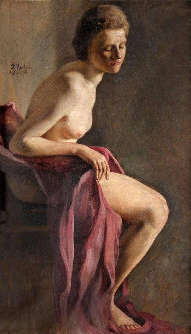 Єжи Меркель. Ню, 1898; олія, полотно