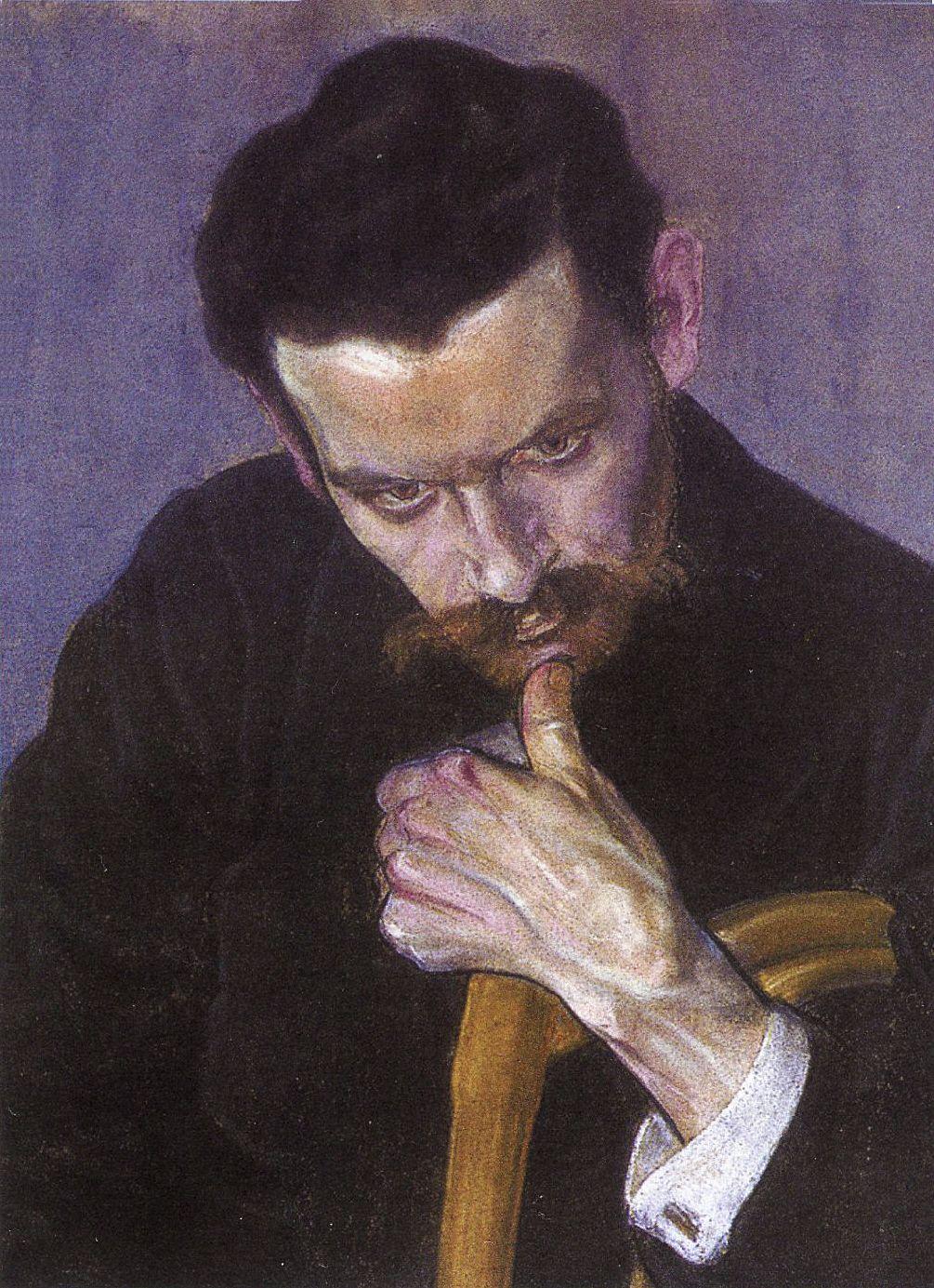 Єжи Меркель. Портрет чоловіка, 1906; папір, пастель