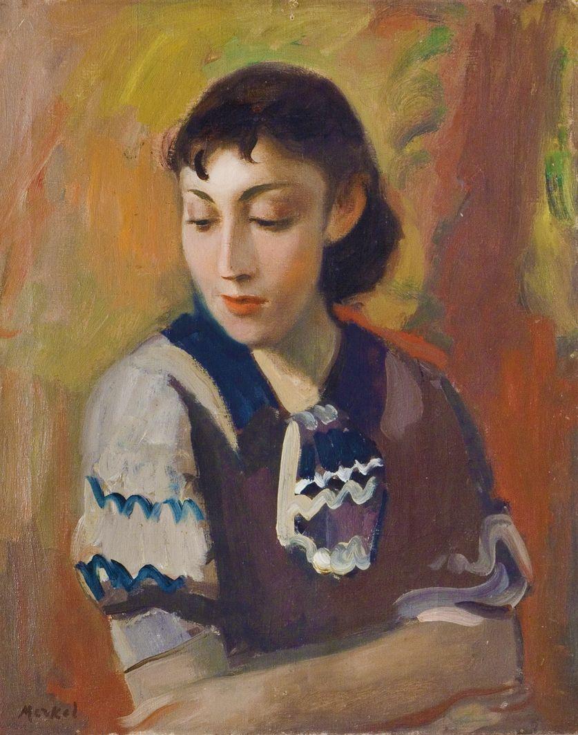 Єжи Меркель. Жіночий портрет, 1930; олія, полотно; ЛНГМ