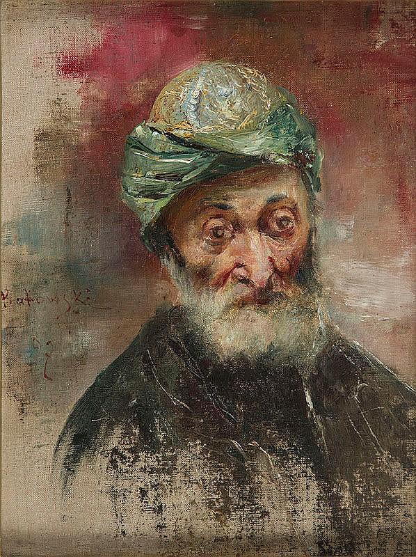Станіслав Батовський-Качор. Портрет старого в тюрбані, 1897
