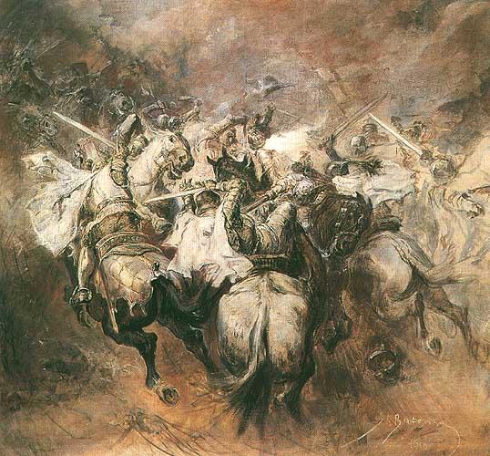 Станіслав Батовський-Качор. Битва під Грюнвальдом, 1910; полотно, олія; 84,5 x 90,5