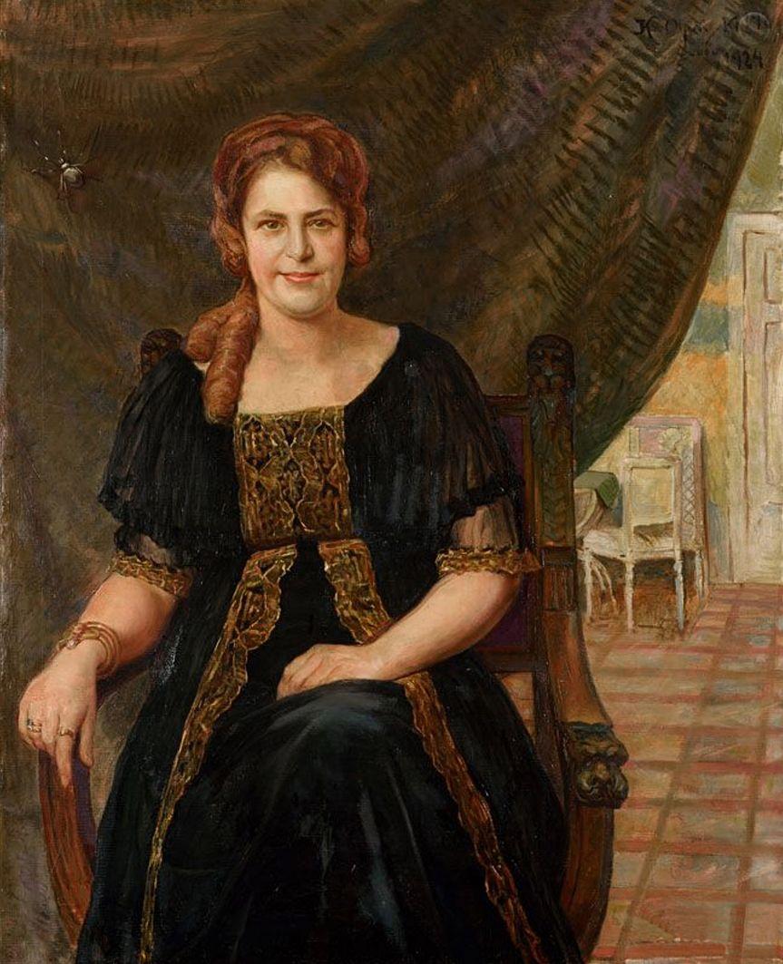 Ян Казімеж Ольпінський. Пані Реттінгер Львів, 1924; полотно, олія