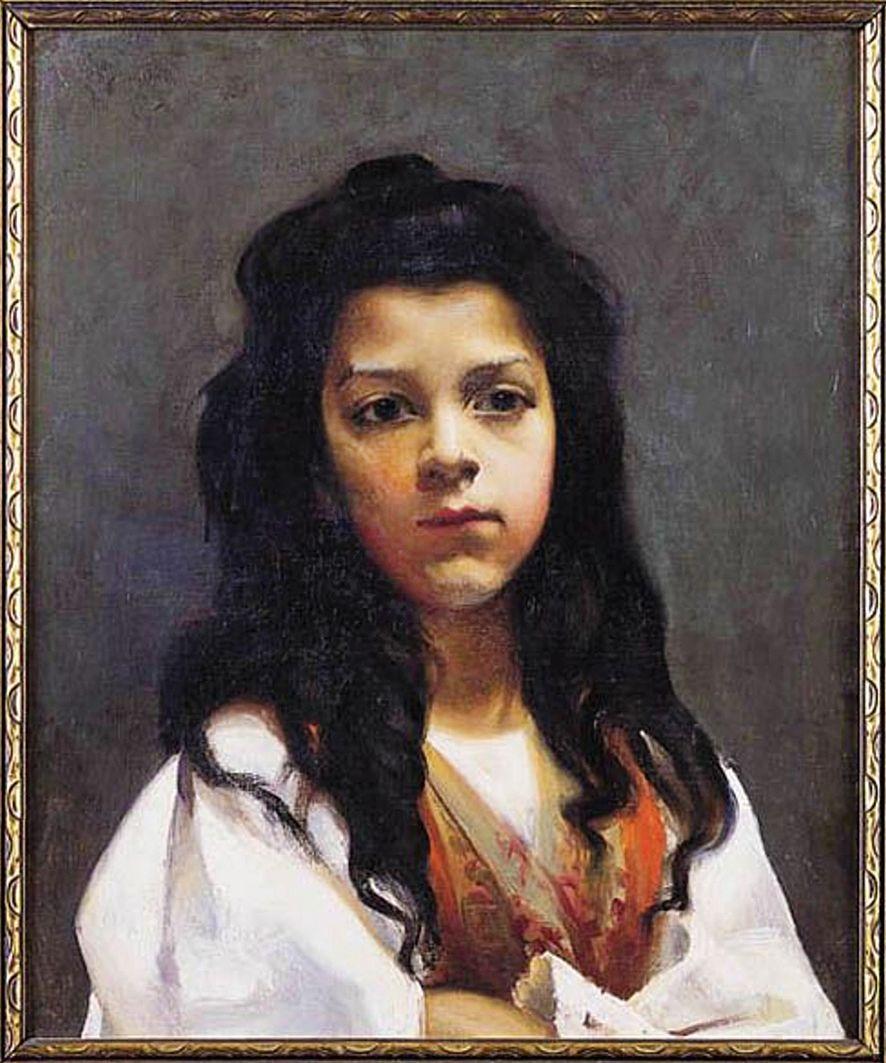 Ян Казімеж Ольпінський. Портрет дівчини, 1900; полотно, олія