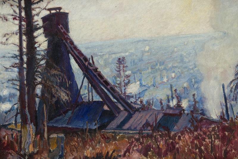 Владислав Яроцький. Борислав, 1912; олія, картон; 48.5 x 68.5