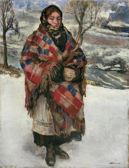 Владислав Яроцький. Дівчина з верховини, близько 1930; полотно, олія; 90.5 x 68