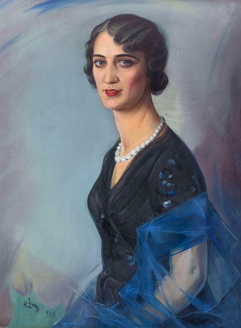 Юзеф Кідонь. Жіночий портрет, 1938; олія, холст