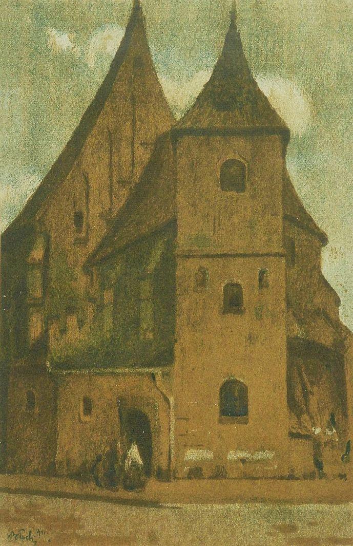 Володимир Блоцький. Костел св. Марка, 1911; літографія