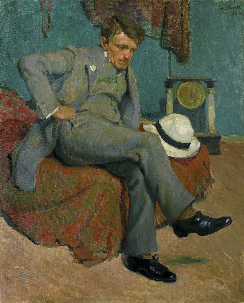 Володимир Блоцький. Портрет пана Д., 1910; олія, полотно