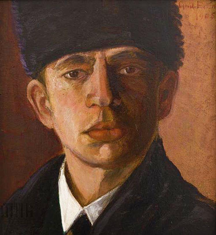 Анджей Пронашко. Автопортрет, 1905; олія, полотно