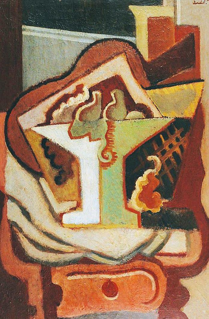 Анджей Пронашко. Формістська композиція, 1920; олія, полотно