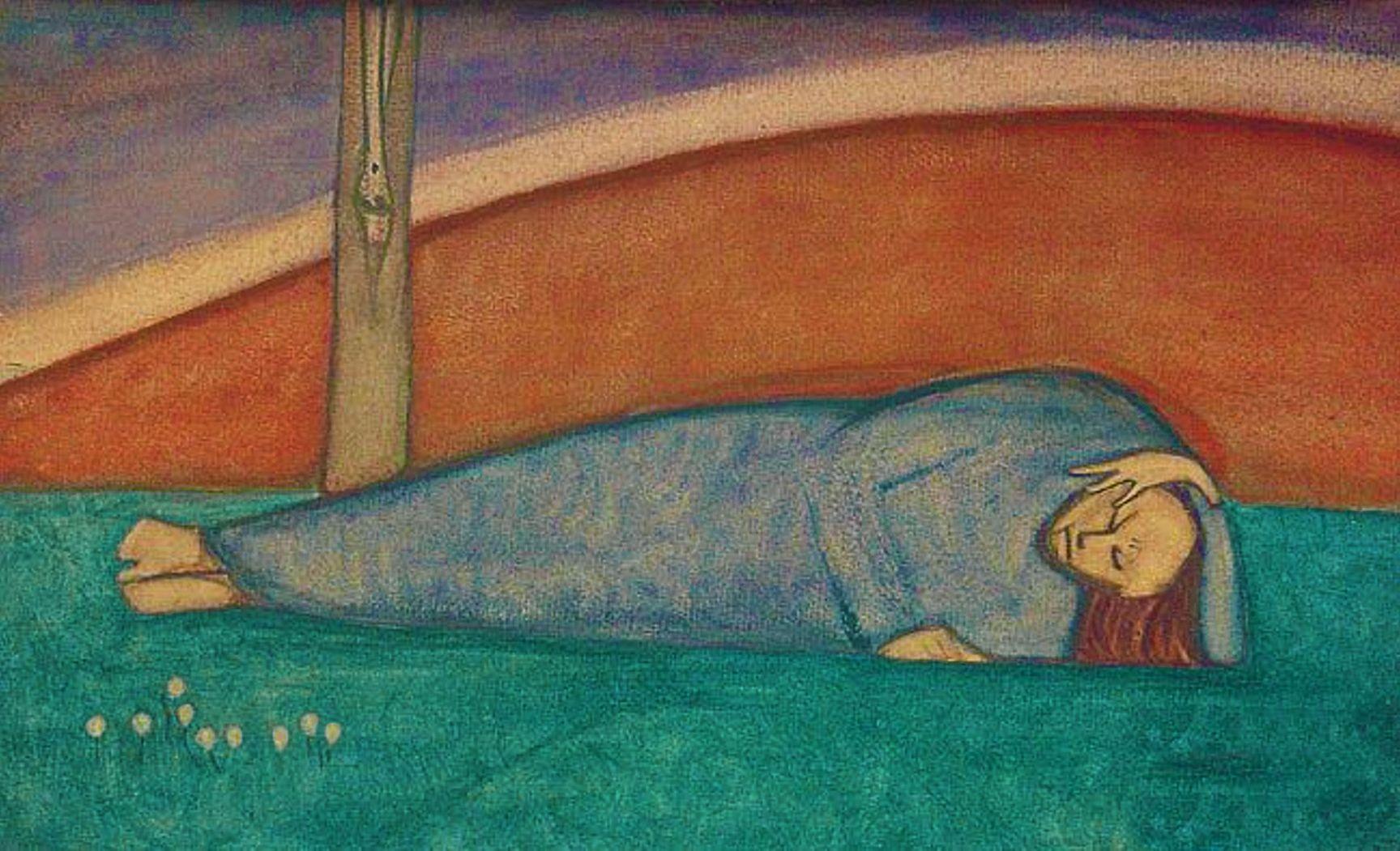 Анджей Пронашко. Під хрестом, 1913; папір, гуаш