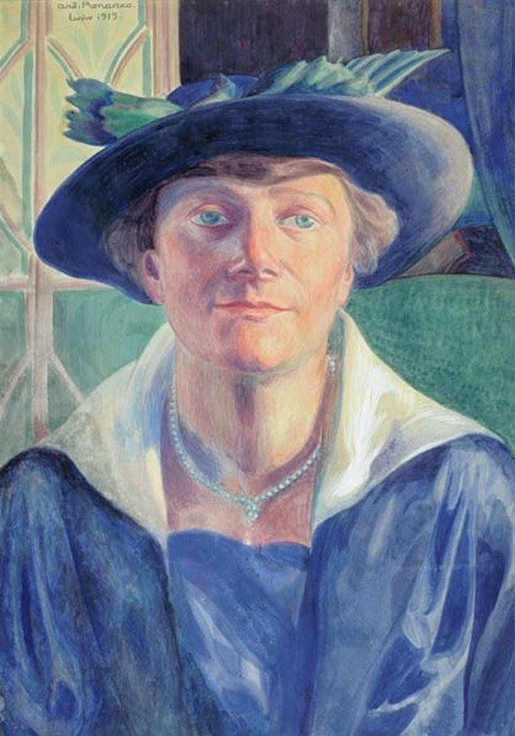 Анджей Пронашко. Жінка в капелюсі, 1919; папір, акварель