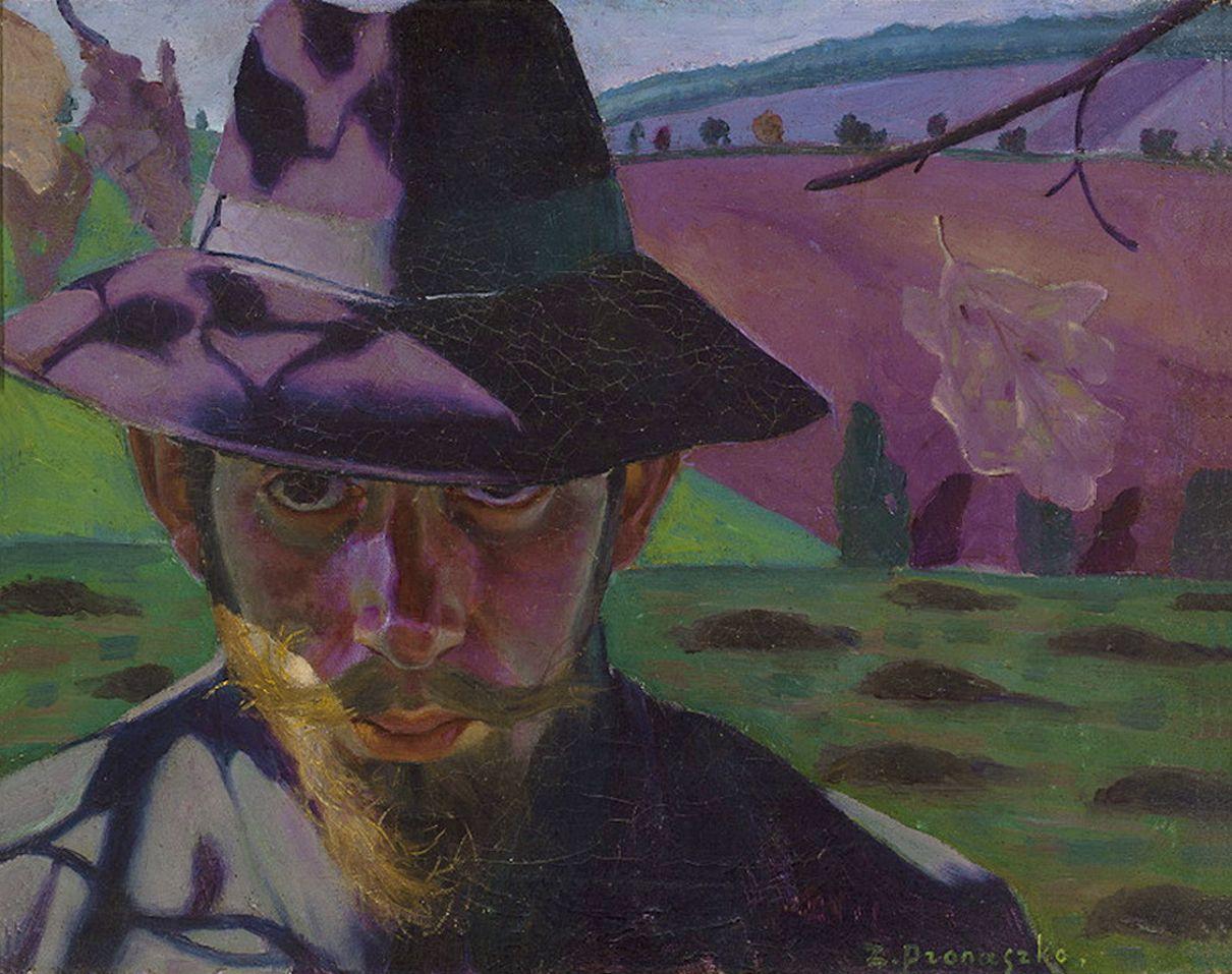 Збігнєв Пронашко. Автопортрет в капелюсі, 1910; полотно, олія; NMW