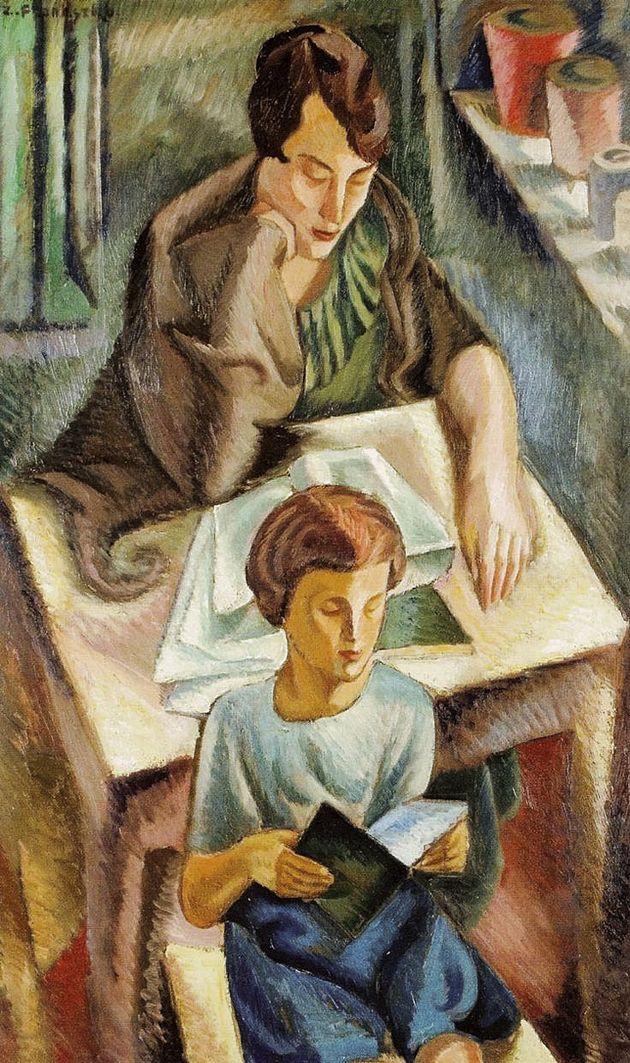 Збігнєв Пронашко. Портрет дружини з сином, 1921; полотно, олія; NMK