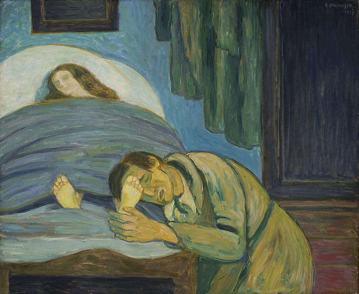Збігнєв Пронашко. Смерть Єлени, 1957; полотно, олія; NMK