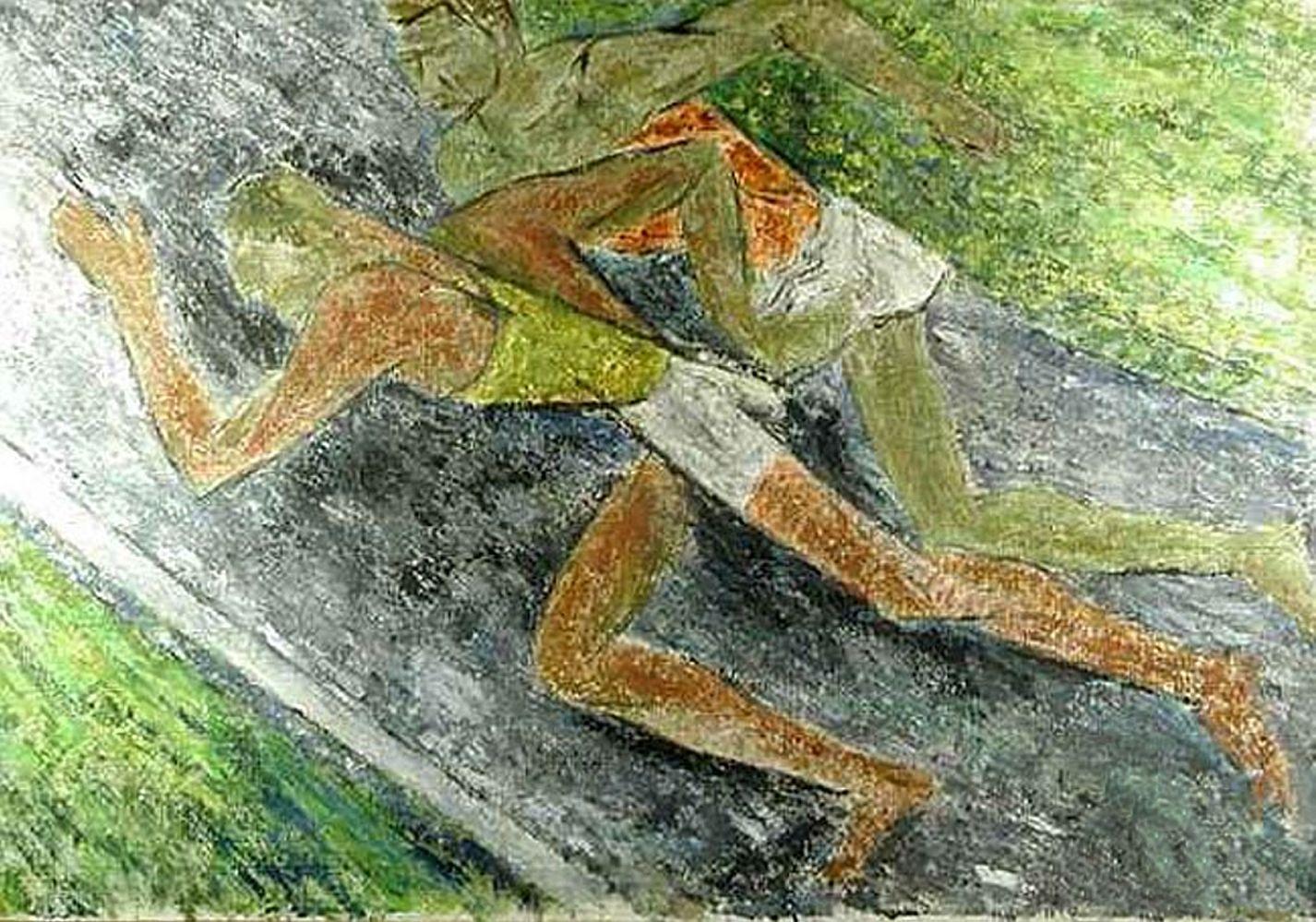 Леон Должицький. Бігуни, 1950-ті; олія, холст