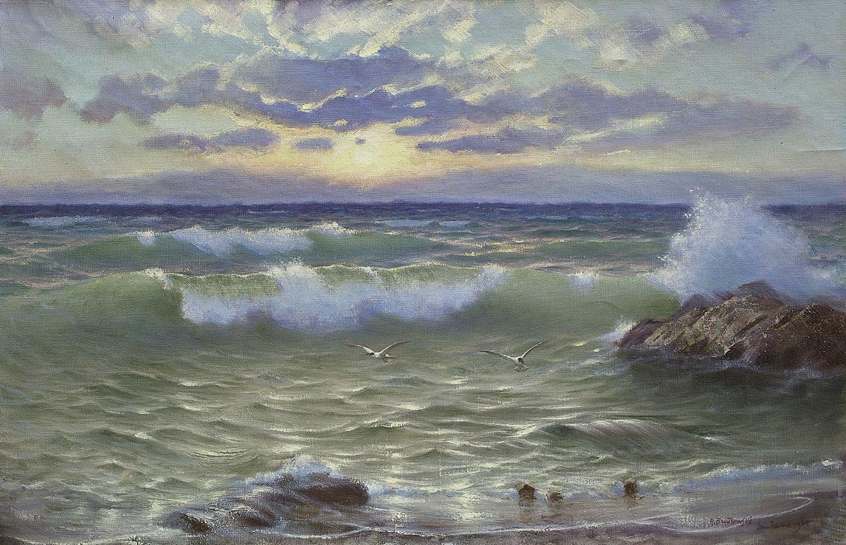 Роман Братковський. Море Сан-Ремо, 1905; олія, полотно