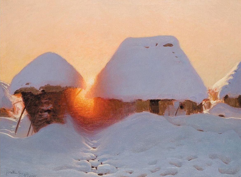 Роман Братковський. Зима під Львовом, 1911; олія, полотно