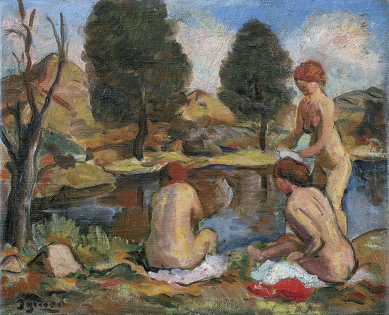 Тимон Нешеловський. Купальниці, 1940; олія, полотно