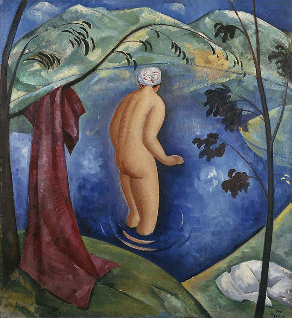Тимон Нешеловський. Купальниця, 1919; олія, полотно; NMW