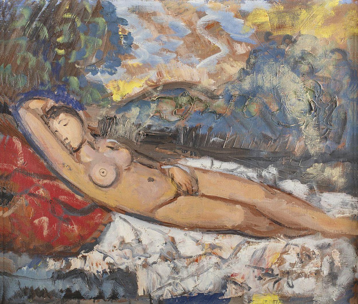 Тимон Нешеловський. Ню, 1963; олія, полотно
