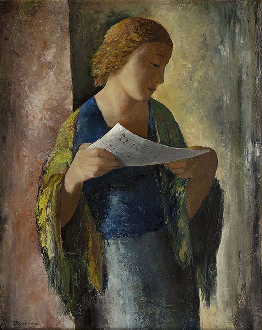 Тимон Нешеловський. Співачка, 1932; олія, полотно