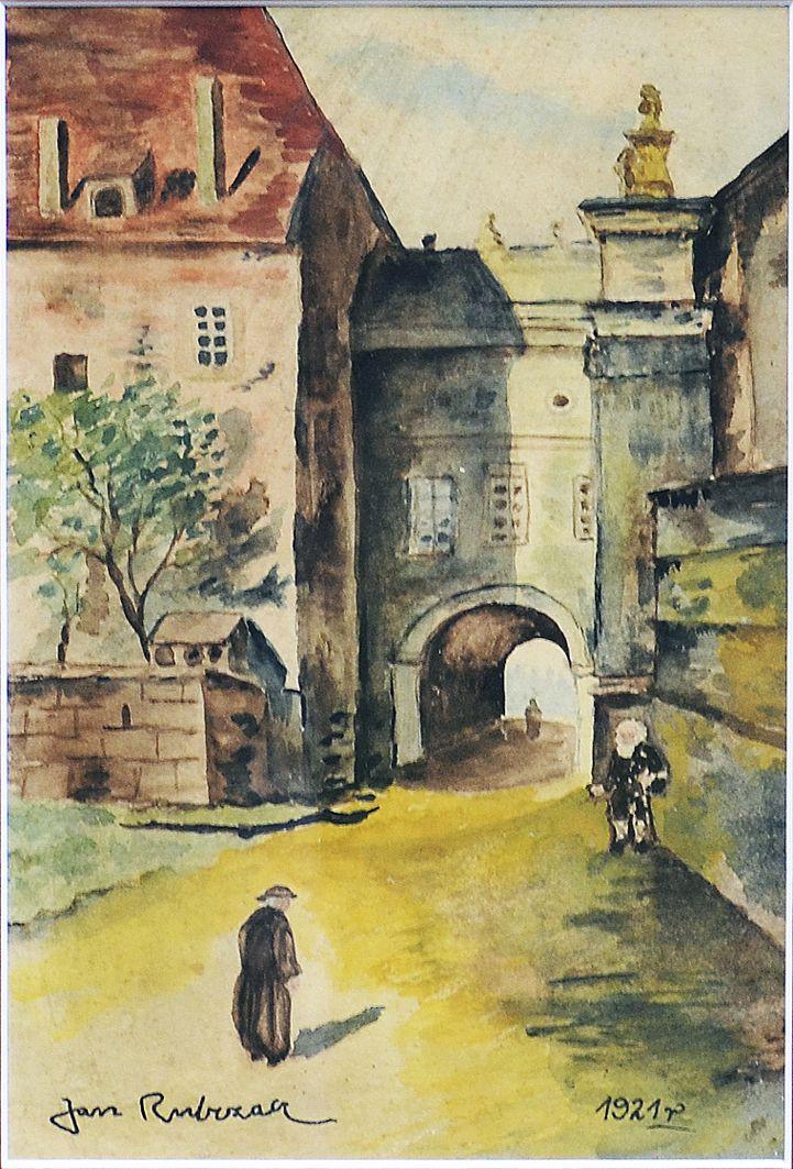 Ян Рубчак. Франція. Міський пейзаж, 1921; папір, акварель