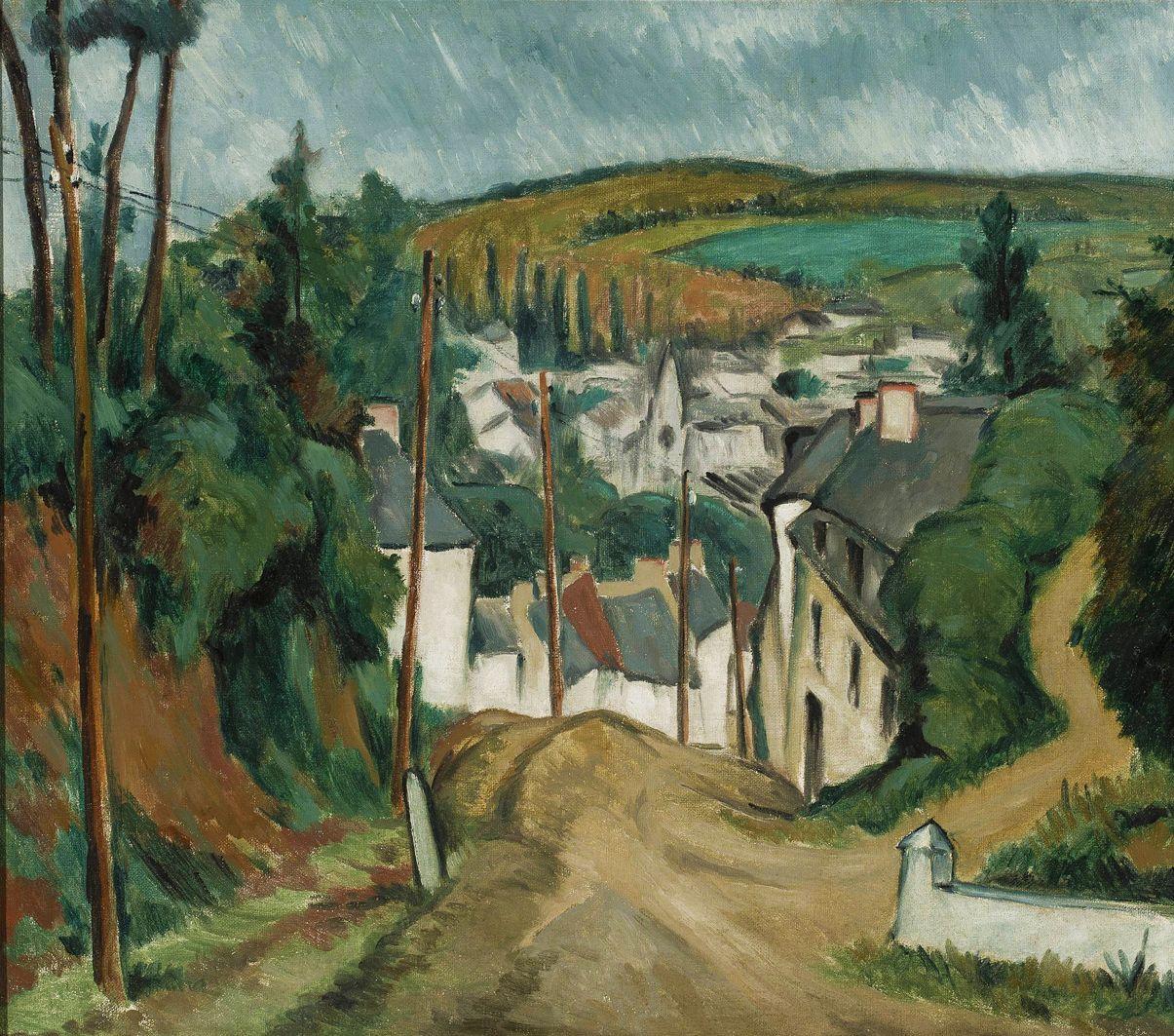 Ян Рубчак. Вид на Ланніон, 1914; олія, полотно; NMW