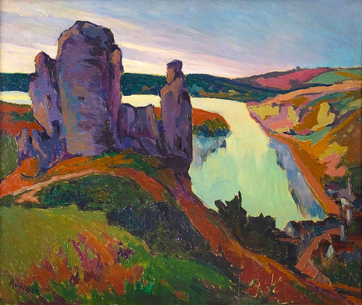 Ян Рубчак. Вид на Шато-Гайард, 1912; олія, полотно