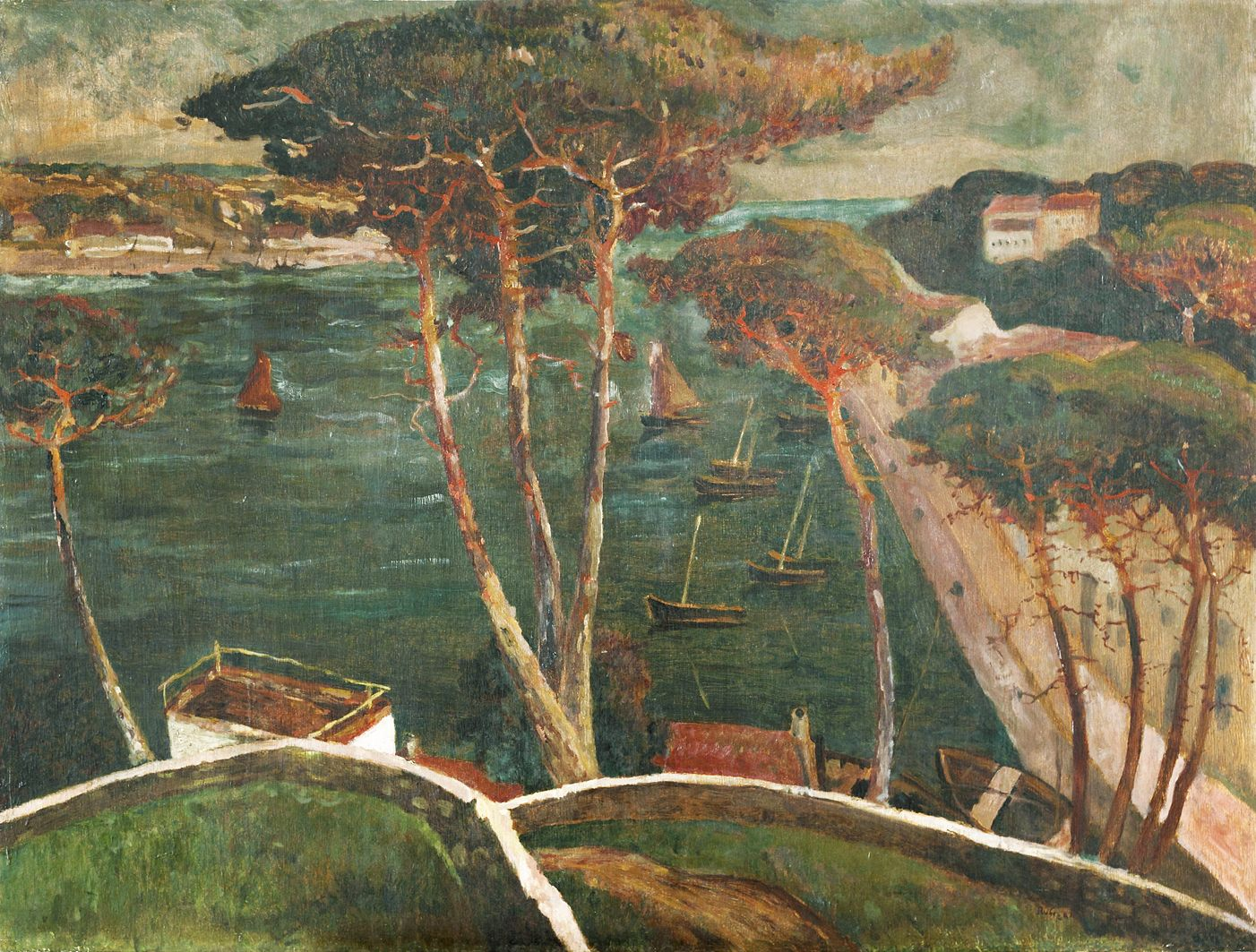 Ян Рубчак. Заводь, 1912; олія, картон