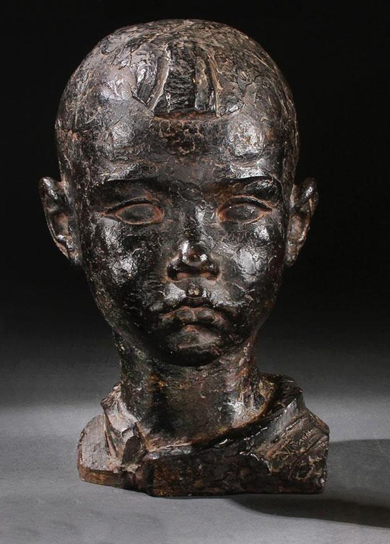 Антін Павлось. Голова дитини; бронза h-28